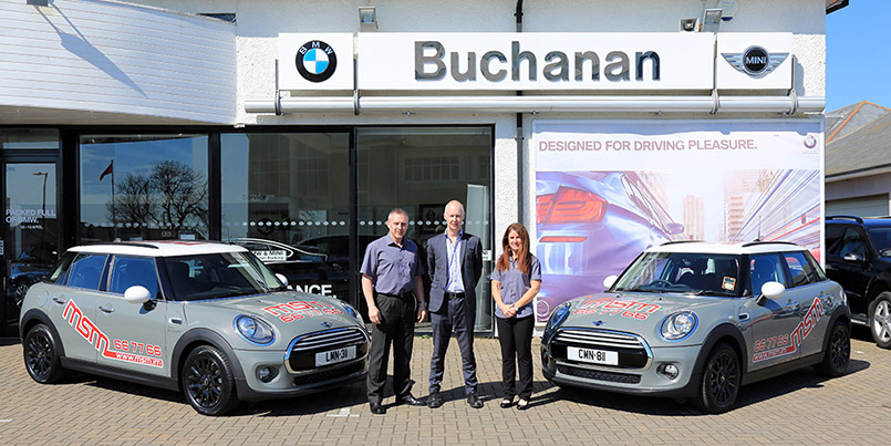 MSM take delivery of their new 2015 MINI's from Buchanan BMW and MINI